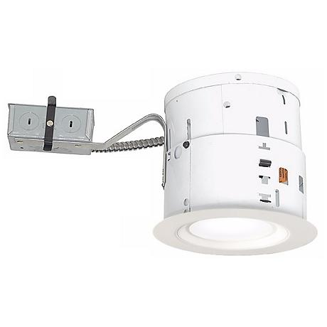 """6"""" Non-IC Remodel 15W LED Smooth Trim Recessed Light Kit"""
