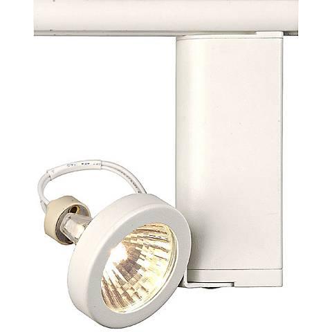 lightolier white shallow ring mr16 track head 41708 lamps plus. Black Bedroom Furniture Sets. Home Design Ideas