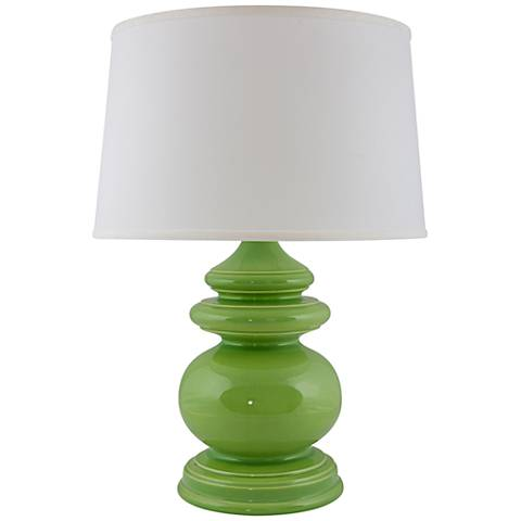 RiverCeramic® Cottage Gloss Clover Green Table Lamp