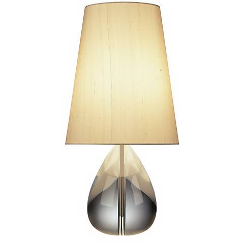 Jonathan Adler Crystal Teardrop Lamp with Oyster Shade