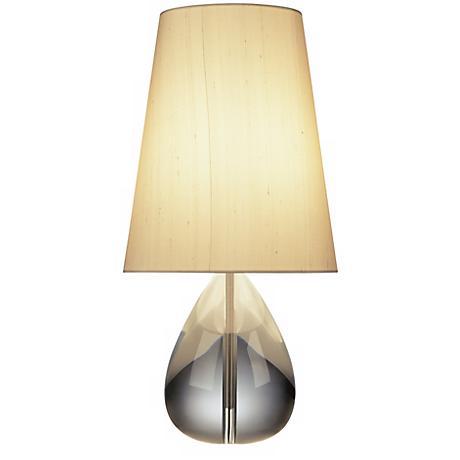 Jonathan Adler Crystal Teardrop Table Lamp with Oyster Shade