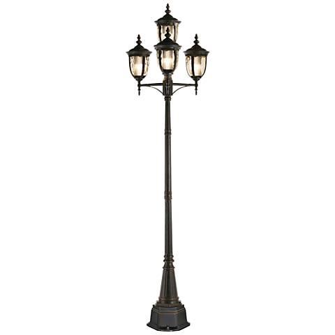 "Bellagio™ Collection 102"" High Bronze 4-Light CFL Post Light"