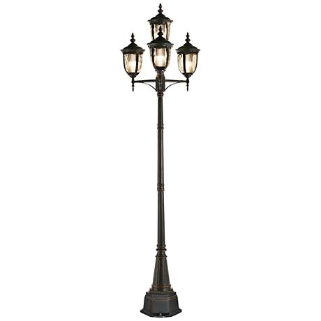 "Bellagio™ Collection 102"" High Bronze 4-Light CFL Post Light"
