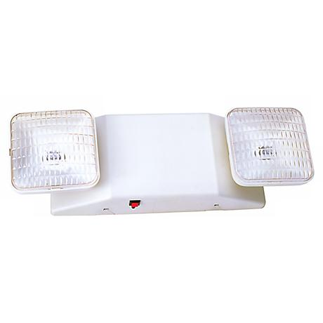 White Emergency Light with Remote Capacity