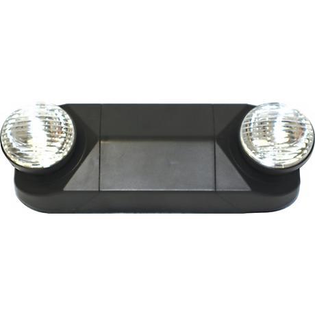 Black PAR-Style Emergency Light