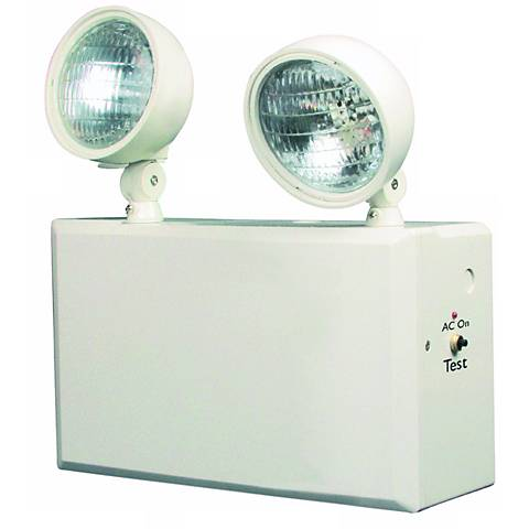 White 2-Head 6V 100W Emergency Light