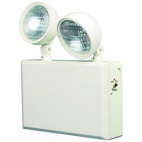 White 2-Head 12V 50W Emergency Light