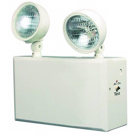 White 2-Head 12V 100W Emergency Light