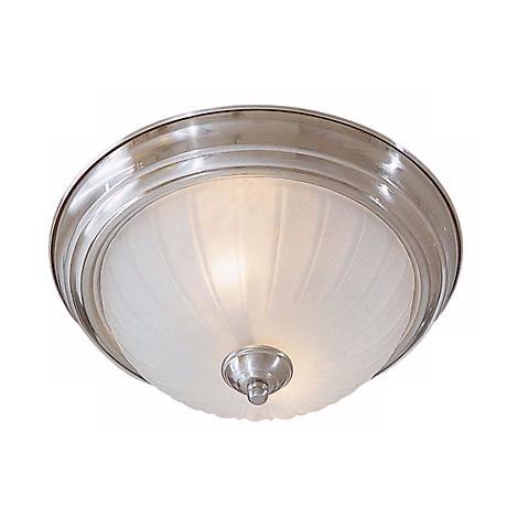 "Melon 13"" Wide Nickel ENERGY STAR® Ceiling Light Fixture"