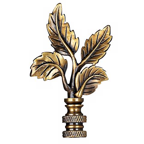 Antique Brass Finish Leaf Finial