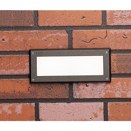 """Kichler Landscape 9"""" Wide 3000K LED Bronze Brick Light"""