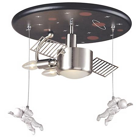 """Space Station 16"""" Wide Ceiling Light Fixture"""