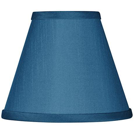 Blue Faux Silk Set of Four Shades 3x6x5 (Clip-On)
