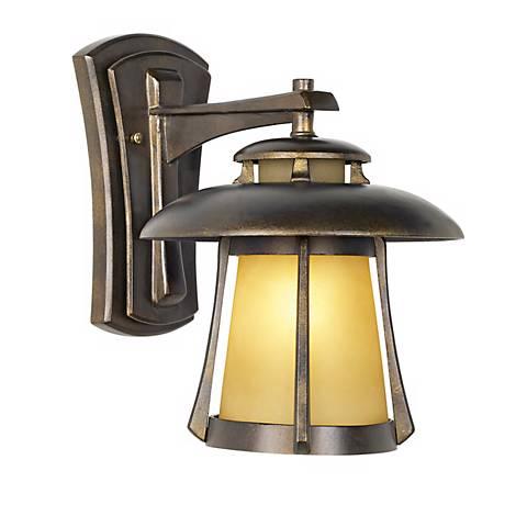 """Laguna Collection Golden Bronze 13"""" High Outdoor Wall Light"""
