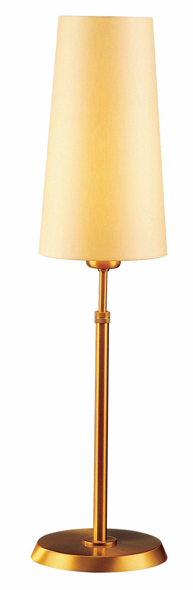 Holtkoetter Antique Brass Table Lamp with Slim Kupfer Shade