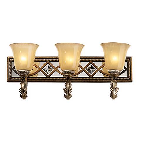 Minka aston court 25 3 4 wide bathroom light fixture 44964 lamps plus for Minka bathroom light fixtures