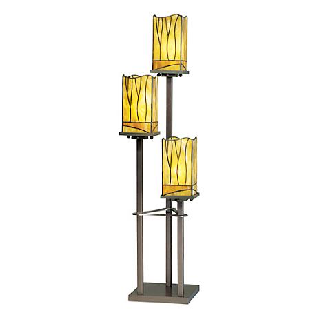 Sedona Collection 3 Tier Tiffany Style Console Table Lamp