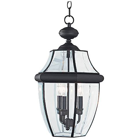 "Lancaster 20 3/4"" High Black 3-Light Outdoor Hanging Light"