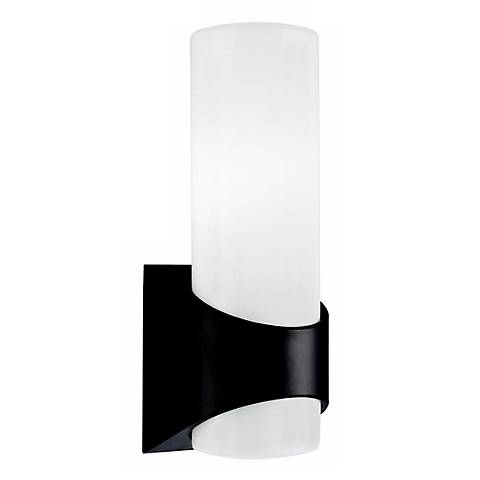 "Kichler Tosi Black Finish 13 1/2"" High Outdoor Wall Light"