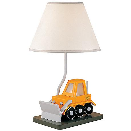 Bulldozer Child's Table Lamp