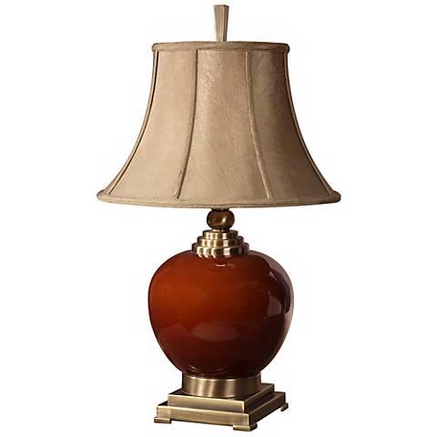 Uttermost Daviel Cinnamon Red Table Lamp