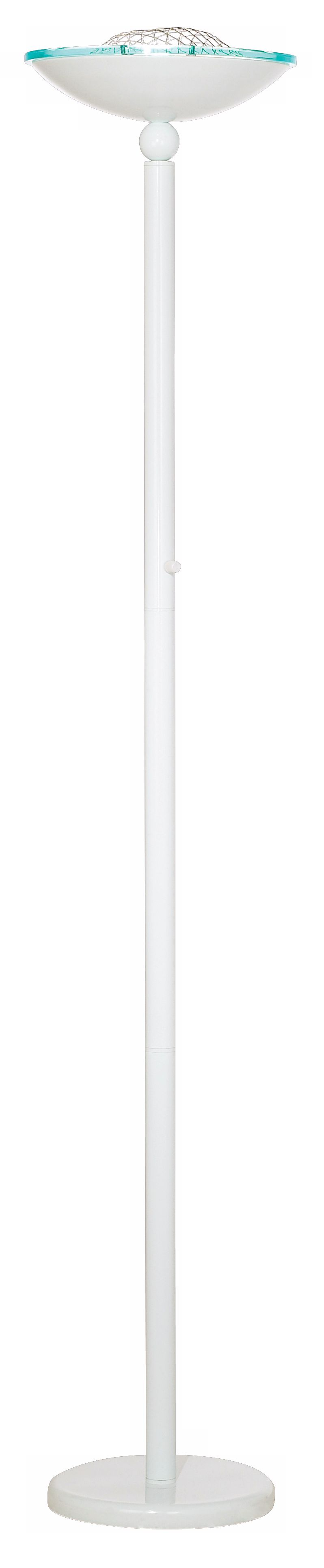 crockett white halogen 150 watt torchiere floor lamp - Halogen Floor Lamp
