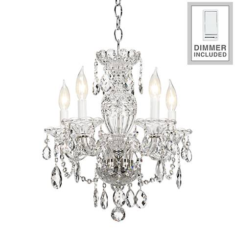 "Sterling 16"" Wide Heritage Crystal Chandelier with Dimmer"