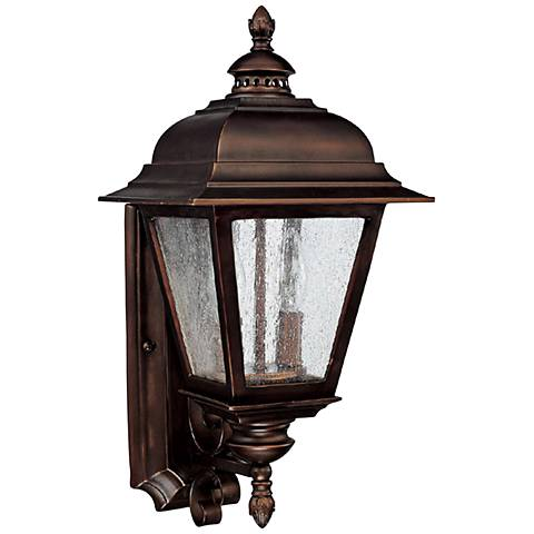 "Capital Brookwood 18 3/4"" High Bronze Outdoor Wall Light"