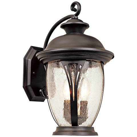 "Westchester 16"" High Curved Bronze Outdoor Wall Light"