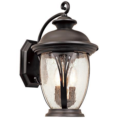"""Westchester 16"""" High Curved Bronze Outdoor Wall Light"""