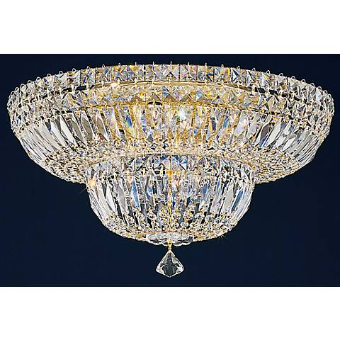 "Schonbek Petite 18"" Wide Crystal Flushmount (QS)"