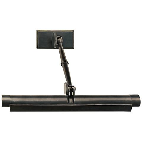 "Meilleur 18"" Wide Deep Patina Bronze Picture Light"