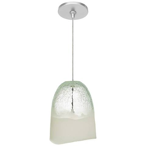 "LBL Chill FSJ 6 1/4"" Wide Clear Ice Glass Mini Pendant"
