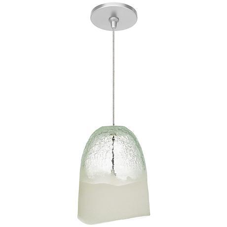 """LBL Chill FSJ 6 1/4"""" Wide Clear Ice Glass Mini Pendant"""