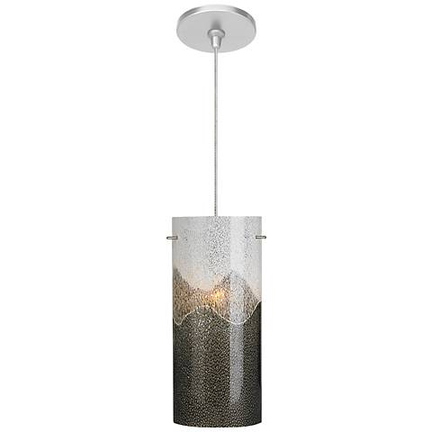 "LBL Dahling FSJ 4 1/4"" Wide Gray-Opal Glass Mini Pendant"