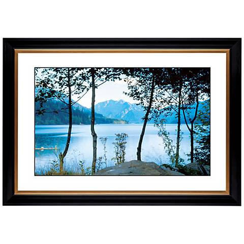 "Mountain Lake Giclee 41 3/8"" Wide Wall Art"