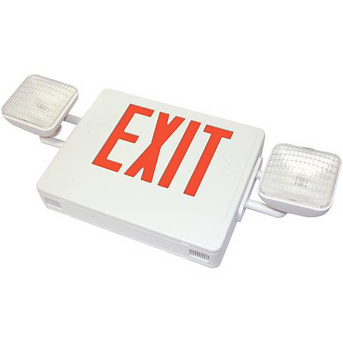 Red Emergency Light Exit Sign
