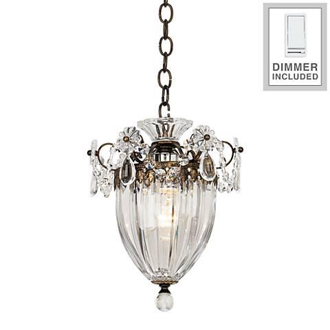 "Schonbek Bagatelle 8"" Wide Crystal Pendant Light with Dimmer"