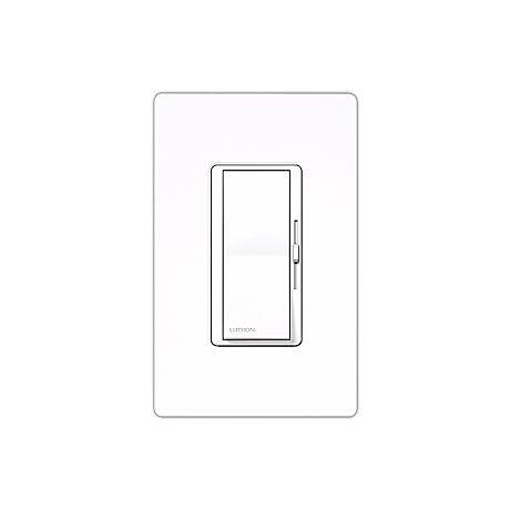 Lutron Diva White 600 Watt Incandescent Single Pole Dimmer