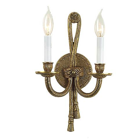 Rope/Tassel ADA Compliant Two Light Wall Sconce