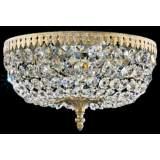 "Schonbek Rialto 12""W Heirloom Spectra Crystal Ceiling Light"