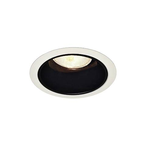 halo 4 black baffle white trim recessed light 48392 lamps plus