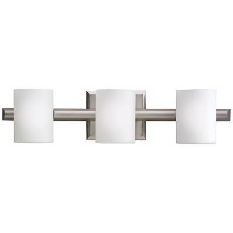 Kichler Cylinder Brushed Nickel 21 Wide Bathroom Light