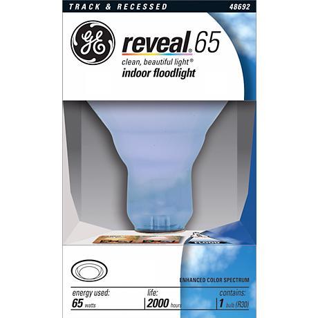 GE 65 Watt R30 Reveal Indoor Flood Light Reflector Bulb