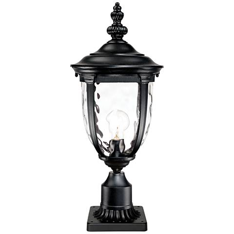 "Bellagio Black 25"" High Post Light and Pier Mount Adapter"