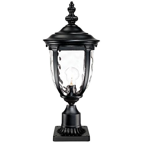 """Bellagio Black 25"""" High Post Light and Pier Mount Adapter"""