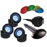 Luminosity All-In-One 3-Light LED Pond Light Kit