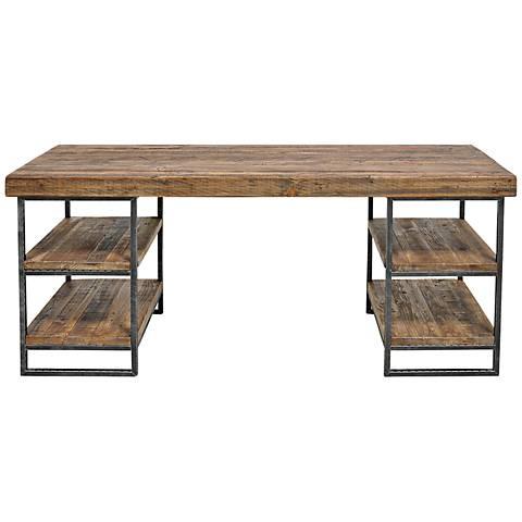 Morella Natural Wood Desk