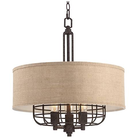 Tremont 20 Quot Wide Rust Pendant Light By Franklin Iron Works