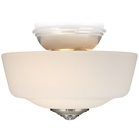 Brushed Nickel Frosted Glass Ceiling Fan Light
